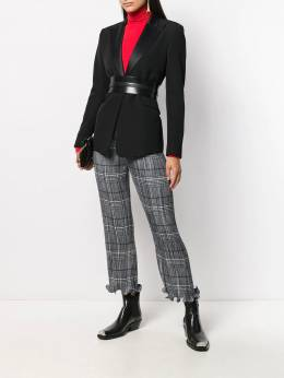 Givenchy - lettuce hem check trousers 6F990GG9550669600000