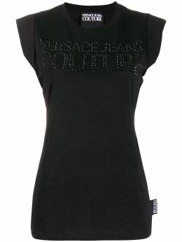 Versace Jeans Couture - embellished logo T-shirt UA3DG360599550303300