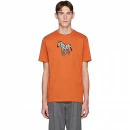 PS by Paul Smith SSENSE Exclusive Orange Uni Zebra T-Shirt 192422M21300503GB