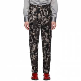 Paul Smith Black Mixed Print Oversized Trousers M1R-515T-A00831