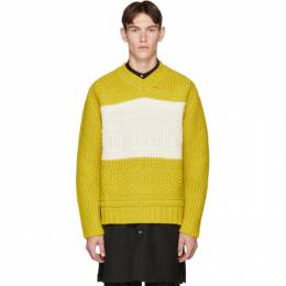 Paul Smith	 Yellow Oversized Chunky Sweater 192260M20600103GB