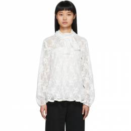 See by Chloe	 White Pleated Lace Blouse 192373F10701102GB