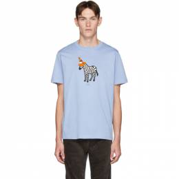 PS by Paul Smith Blue Zebra T-Shirt 192422M21303603GB