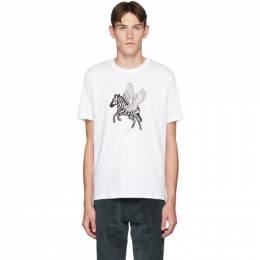 PS by Paul Smith White Pegasus T-Shirt 192422M21303806GB
