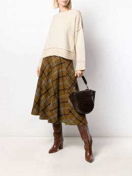 Roberto Collina - check pattern skirt 66595538635000000000