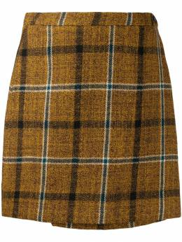 Roberto Collina - mini check pattern skirt 66695538693000000000