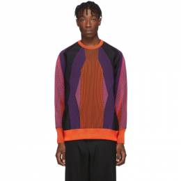 Minotaur Orange Colorblock Sweater Minotaur 192188M20100101GB