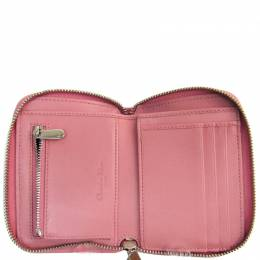 Dior Pink Cannage Leather Lady Dior Wallet 228760