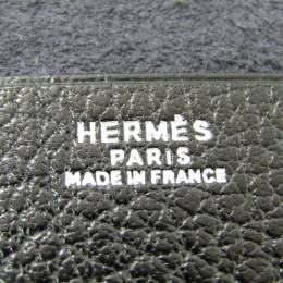 Hermes Black Fjord Leather Notebook Cover 228570