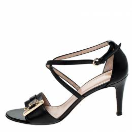 Bally Black Leather Open Toe Ankle Strap Sandals Size 38 229844