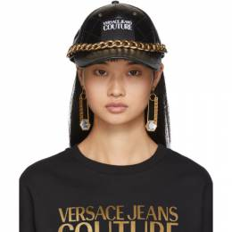 Versace Jeans Couture Black Gold Chain VJC Cap 192202F01600301GB