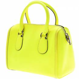 Coach Yellow Neon Coated Canvas Everyday Bag 230134