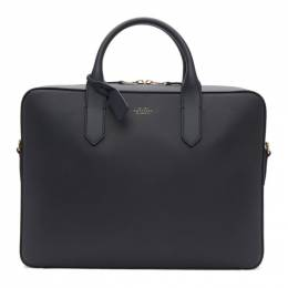 Smythson Navy Panama Slim Briefcase 192087M16700201GB