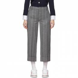 Thom Browne Grey Shadow Stripe Sack Trousers FTC160A-05019