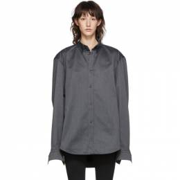 Balenciaga Grey Square Back Shirt 594893-TGQ07