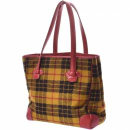 Hermes Multicolor Wool And Leather Tote 230003