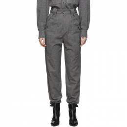 Isabel Marant Grey Tapered Yerris Trousers A1469-19H017I