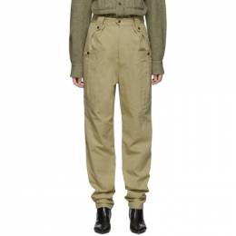 Isabel Marant Tan Tapered Yerris Trousers PA1469-19H017I