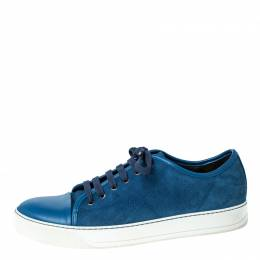 Lanvin Blue Suede and Leather DDB1 Low Top Sneakers Size 41 231929