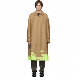 Valentino Tan Undercover Edition Time Traveller Coat 192476M17601202GB