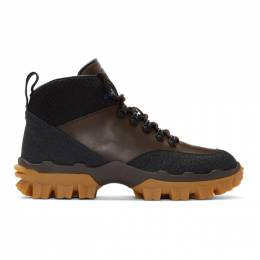 Moncler Black and Brown Hektor Boots E209A 10383 00 01AKW