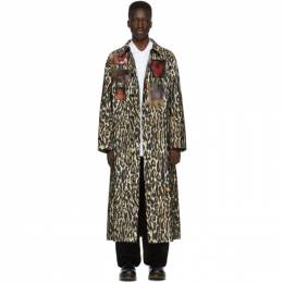 Raf Simons Off-White Animalier Patches Car Coat 192-626 30080