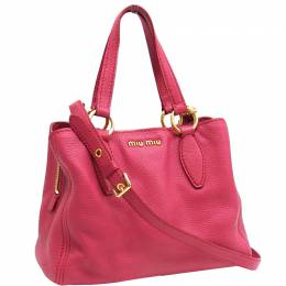 Miu Miu Pink Leather Tote 236829