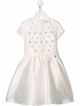 Simonetta - floral embroidered dress 539LB396956096380000