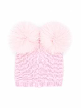 Siola - double pompom hat 69563F95605688000000