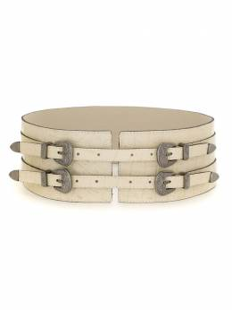 Olympiah - four buckles wide leather belt 93095033550000000000
