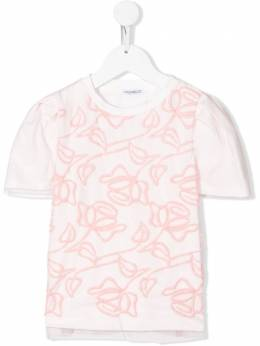 Simonetta - floral embroidered T-shirt 069LB666956098550000