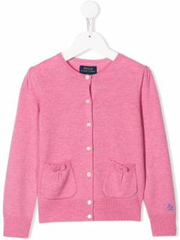 Ralph Lauren Kids - logo embroidered cardigan 39969995530096000000