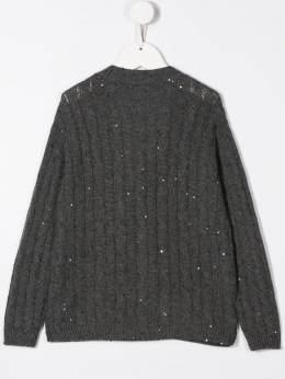 Brunello Cucinelli - sequin embroidered jumper 556696ACJ63995565388