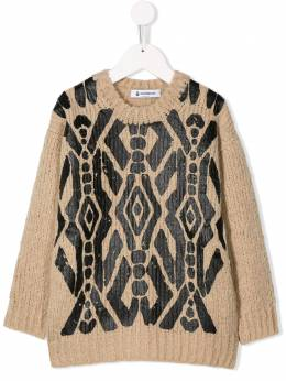Dondup Kids - geometric patterned jumper 65MY6699956056830000