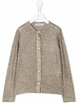 Dondup Kids - ribbed fitted cardigan 35JY6665GXXX95600685
