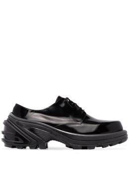 1017 ALYX 9SM - black removable Vibram sole leather sneakers SN6666LE699590655500