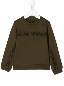 Emporio Armani Kids - Boys Khaki Logo Trim Sweater MJ33J0VZ655395586998