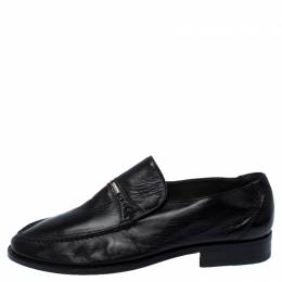 Moreschi Black Leather Wide Loafers Size 41 236188