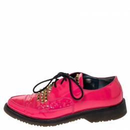 Marc by Marc Jacobs Pink Patent Leather Derby Size 38 237957