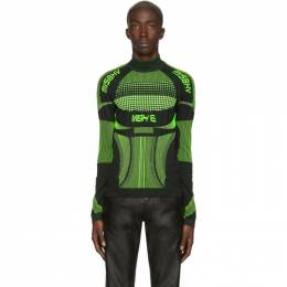 Black and Green Europa Active Turtleneck MISBHV 192937M20500203GB