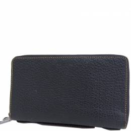 Coach Black Leather Zip Around Wallet 238887