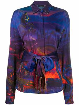 Marcelo Burlon County Of Milan ALL OVER FANTASY SHIRT MULTICOLOR BLACK CWGA023E19B641468810