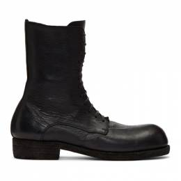 Guidi Black Big Daddy Lace-Up Boots GR05