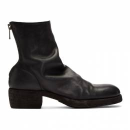 Guidi Black Back Zip-Up Boots 796Z