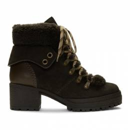 See by Chloe Brown Eileen Heeled Boots SB31121A-08230