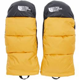 The North Face Yellow Down Nuptse Mittens 192802M13500704GB