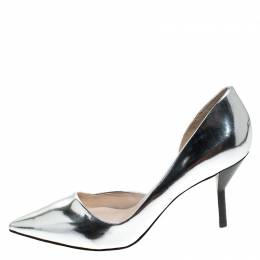 3.1 Philip Lim Silver Patent Leather Martini Pointed Toe Pumps Size 38 3.1 Phillip Lim 241648