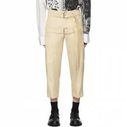 Lanvin Off-White Cropped Double Belt Trousers RMTR0006H19
