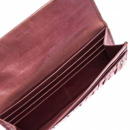 Miu Miu Pink Matelasse Leather French Continental Wallet 240751