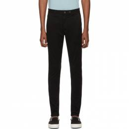 Rag & Bone Black Fit 1 Classic Chino Trousers M1724O060BLK
